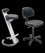 Assento ergonômico e assento em pé